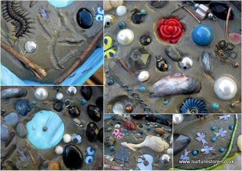garden tile art - Garden Art Ideas For Kids