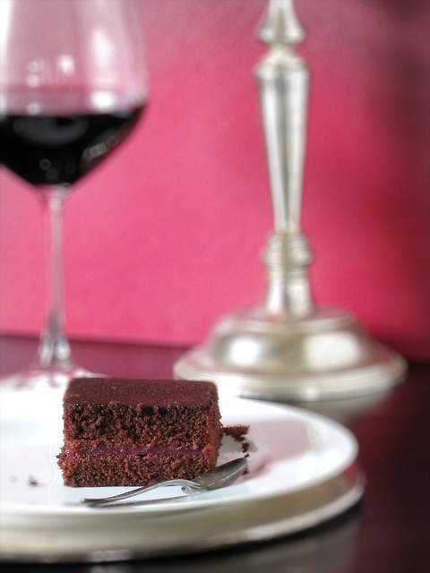 Cherry & Red Wine Chocolate Cake