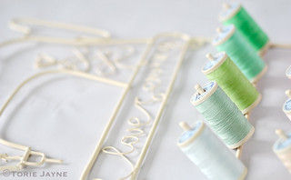 Green sewing threads