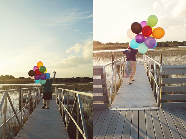balloon shoot 20 diptych