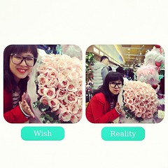 Valentine wish vs reality? Heheh