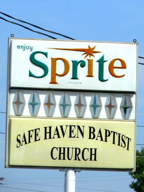 Sprite - Safe Haven Baptist Church - sign