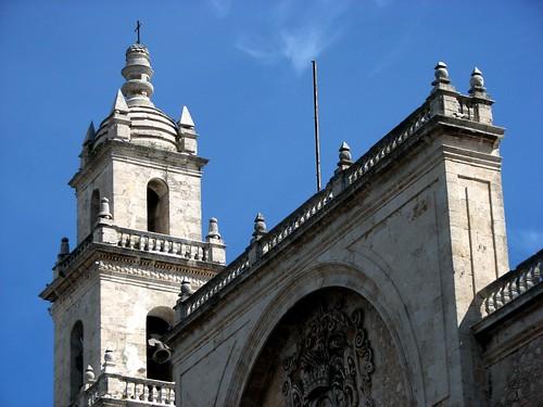 Vista parcial de la Catedral de Mérida