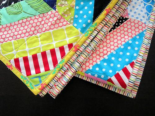 Rainbow stripe binding