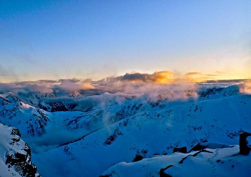 sunset mountain snow ski rock clouds landscape skiing path horizon tracks goat backcountry touring mckoy sammckoy samckoy samuelmckoy