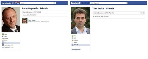 Tom Brake removes Peter Reynolds from his Facebook friends