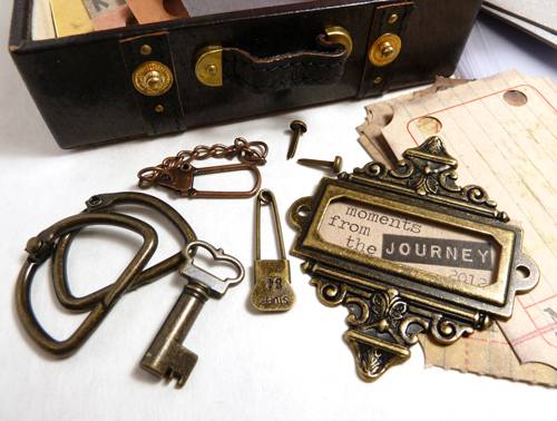 "Tim Holtz ""The Journey Journal"" Kit :: Hardware"