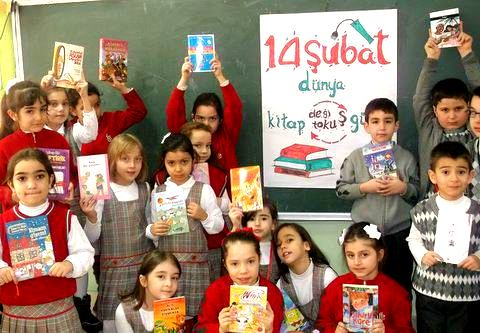 another class book exchange in Turkey