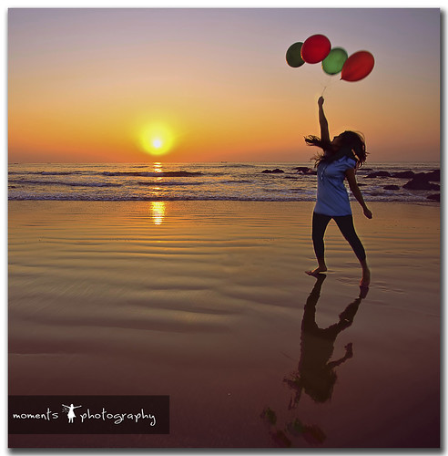 sea sky woman sun india reflection beach water girl lady sunrise balloons fly jump sand nikon rocks asia vizag visakhapatnam d7000 pnike