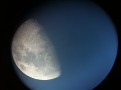 Picture of moon through telescope and iPhone