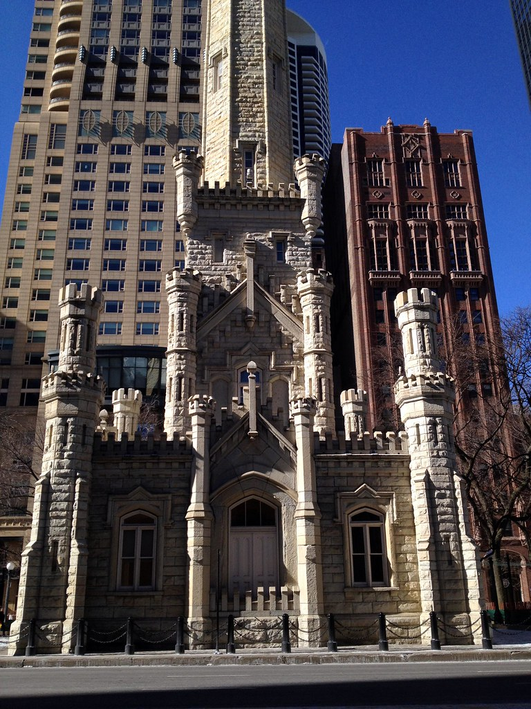 Old Chicago Water Tower - Windy City - See Highlights From Around Chicago, Illinois! (via Wading in Big Shoes)