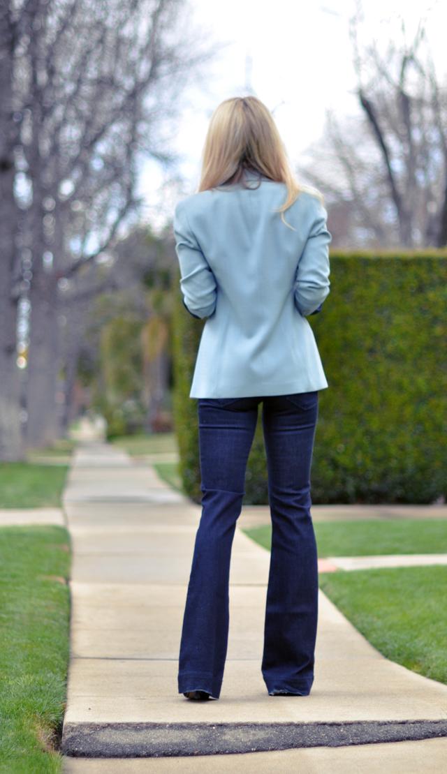 blue jeans -  blue blazer