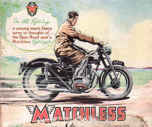Matchless 1950 Ad-In the Spring.