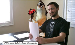 Juanita and Wil Wheaton Collating
