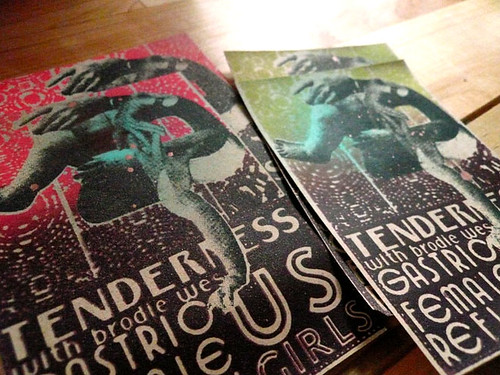 Silkscreened Show tickets