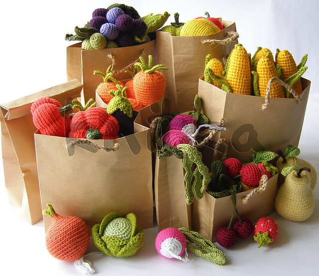 crochet fruit and vegetables Flickr - Photo Sharing!