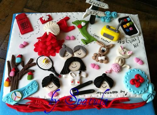 Temalı Doğum Günü Pastası yaş 33 by Demetin spatulasi