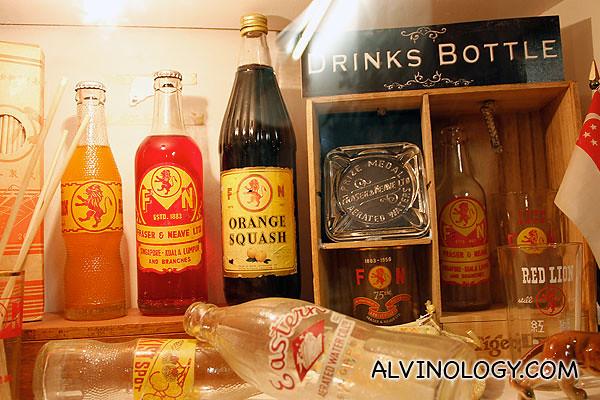 Old F&N drink bottles!