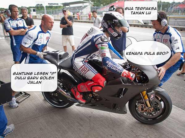 Stroll Jorge Lorenzo - lesen motorsikal