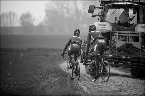 traditional Roubaix traffic jam