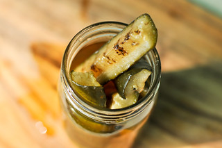 Sweet and Spicy Grilled Pickles