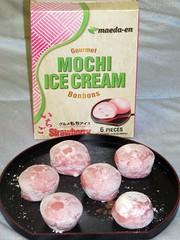 Strawberry mochi ice cream bonbons