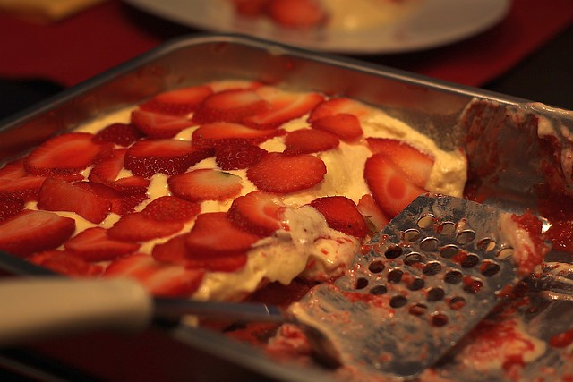 "And ""Spring Tiramisu"". Strawberries."