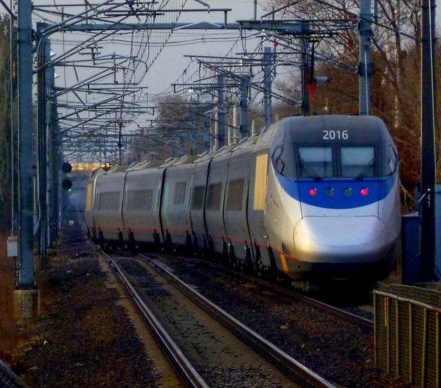 Acela navigates the switch