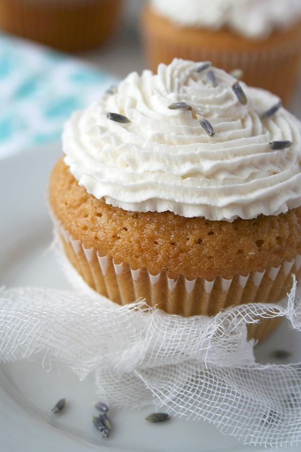 ... , Meyer Lemon and Olive Oil Cupcake with Lavender Whipped Cream Icing
