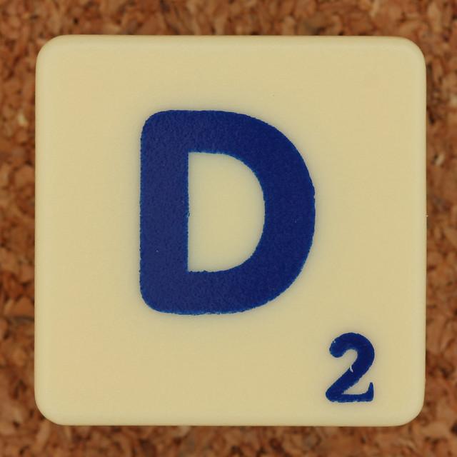 Scrabble Trickster Letter D