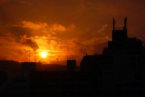 sunrise landscape day cloudy