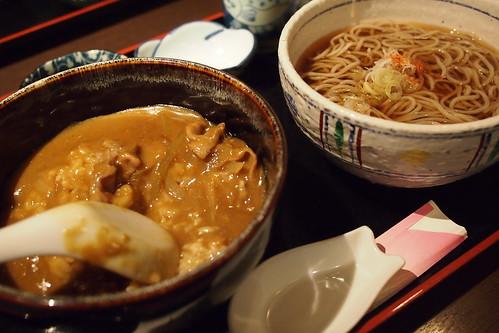 カレー丼&そば