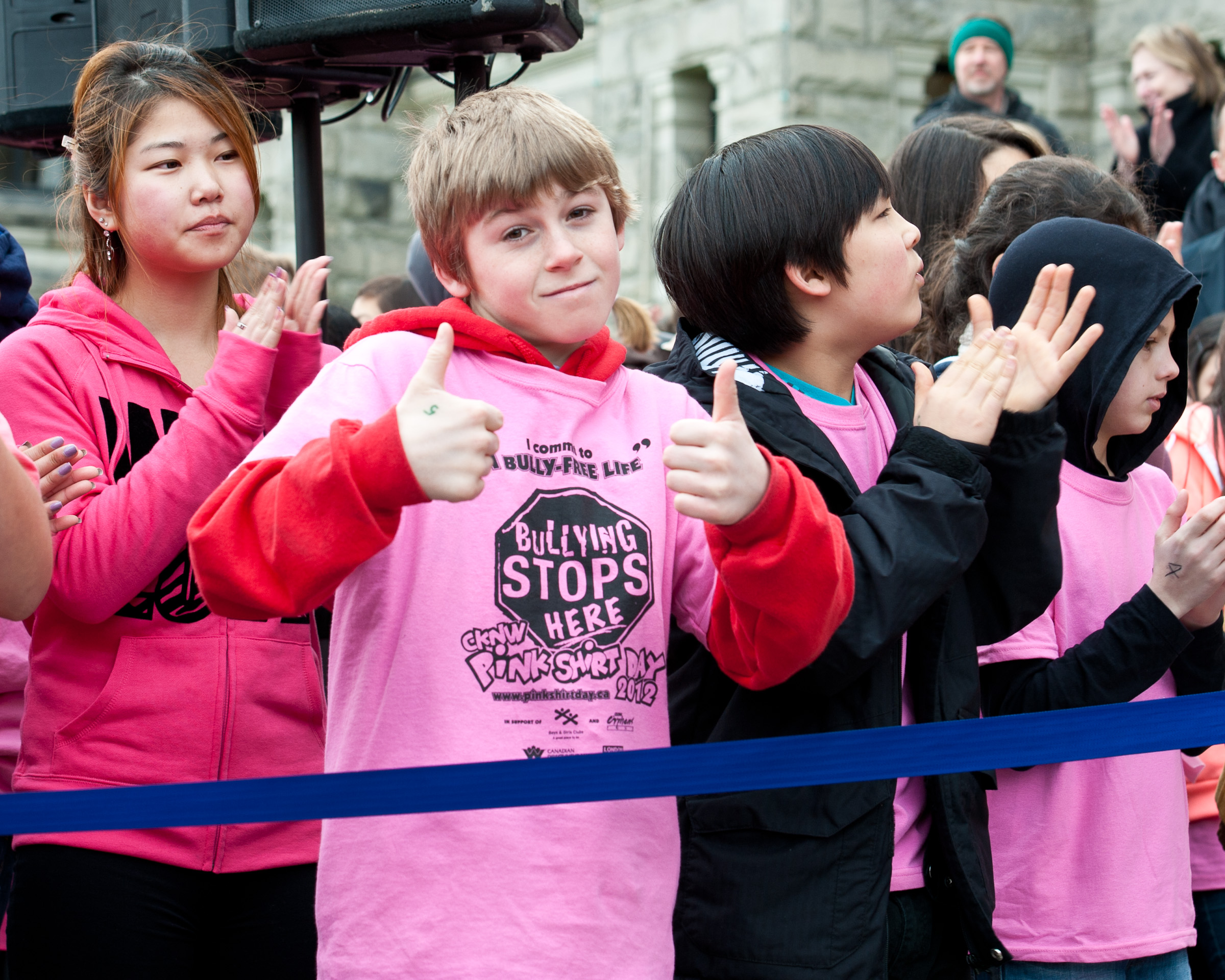 Anti-bullying flash mob supports Pink Shirt Day