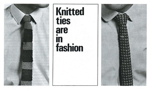 vintage knitted ties