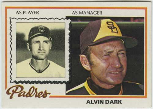 1978 Topps Al Dark