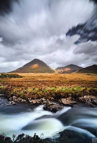 longexposure portrait scotland highlands stream isleofskye cullins landcape bigcloud