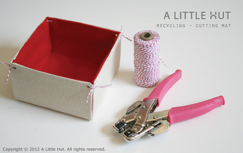 recycling project - cutting mat bin