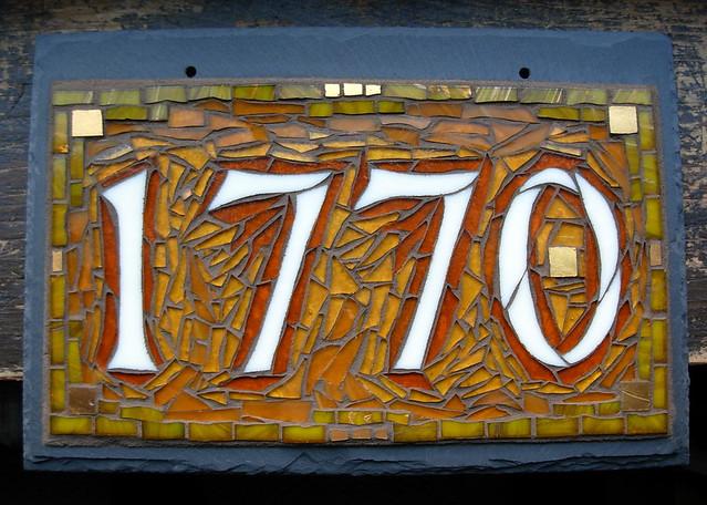 Nutmeg Designs Custom House Number In Amber 1770 Flickr