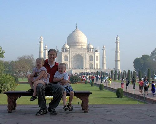 Family at the Taj Mahal