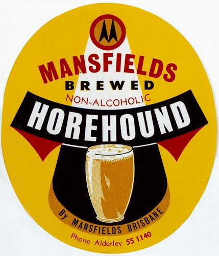Mansfields Brewed Non-Alcoholic Horehound ale label