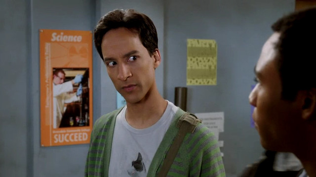 "Abed wearing my shirt in the new ""Community Returns"" promo!"