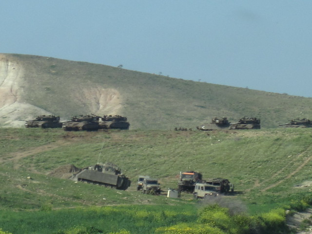 Israeli army training near Al Farisiya in April 2012