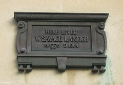 Photo of Walter Savage Landor black plaque