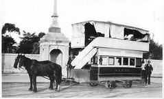 McKinlay Monument and Horse Tram