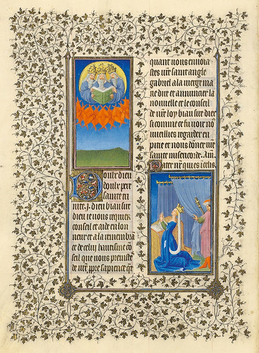 006-Oración a la Trinidad--Belles Heures of Jean de France duc de Berry-Folio 91v - ©The Metropolitan Museum of Art