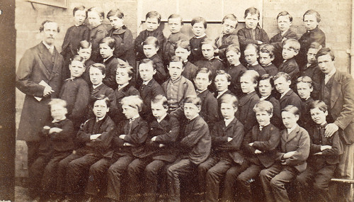 Group of boys. Manchester. 1870s.