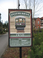 Riding the Interurban - Nice signage