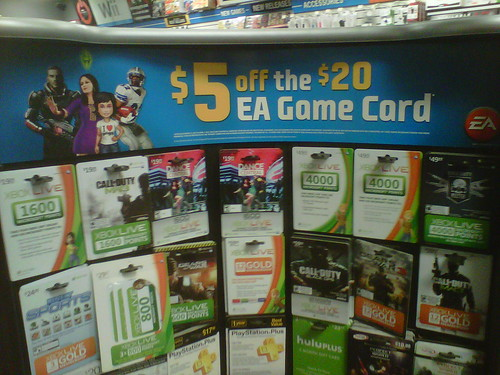 An EA Cash Card is basically a gift card for Origin. You can give it to someone as a gift so they can buy what they want on Origin, or you can use it to add funds to your own EA Wallet. Spend your EA Cash Card on any product in the Origin store, including PC games and Pogo products (Pogo products only available in North America).