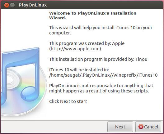 Install iTunes on using PlayonLinux on Ubuntu/Linux Mint