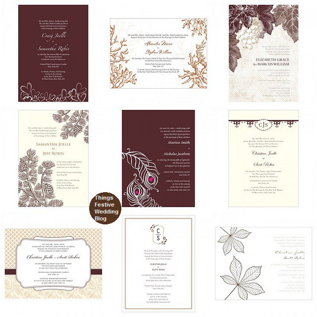 chocolate brown Wedding Invitations Visit us at ThingsFestivecom for